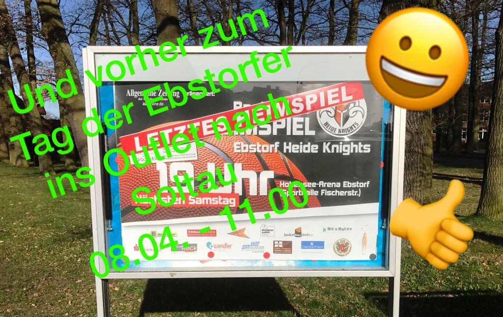 WE 08.04.2017 / Vorbericht Heimspiel Heide Knights / Und vorher zum Outlet-Center nach Soltau