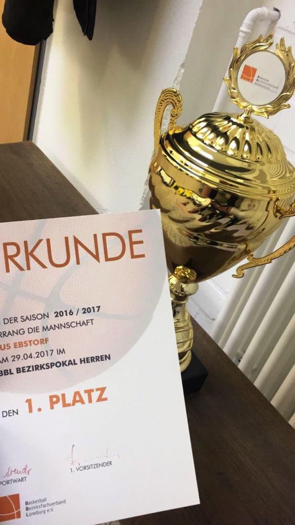 29.04.2017: BBL-Pokal 2017 / Sieger Ebstorf Heide Knights