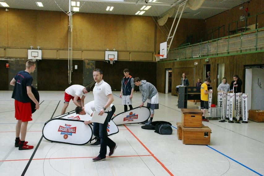 03.06.2017: kinder+Sport Basketball Academy / Aufbau