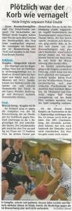 Spielbericht NBV-Pokal 2017 Heide Knights vom 08.05.2017