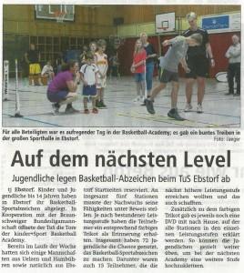 Bericht kinder+Sport Basketball Academy vom 07.06.2017