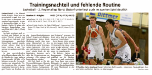 Spielbericht Ebstorf Heide Knights vom 12.10.2020