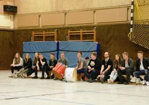 WE 08.04.2017 / Spielbericht Heimspiel Heide Knights / Die Supportes sind auch wieder zur Unterstützung dabei