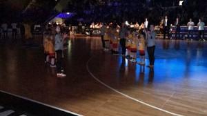 12.04.2017: Spalierstehen beim Bundesligaspiel / Der große Moment als Spalierkind im Rampenlicht