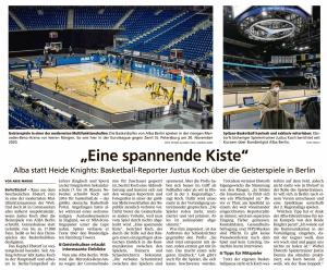 Bericht  ueber Justus Koch in Berlin