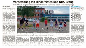 Bericht ueber die Vorbereitung der Ebstorf Heide Knights vom 28.08.2020
