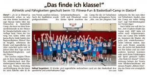 Bericht 13. Fun-Fitness & Basketball-Camp 2019 vom 15.08.2019