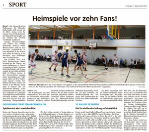 Bericht ueber die Vorbereitung der Teams von den Ebstorf Knights vom 12.09.2020