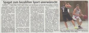 """Bericht  """"Spagat zum bezahlten Sport"""" vom 26.08.2017"""