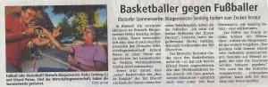 Bericht TuS Ebstorf Basketball vs. Fussball vom 02.08.2018