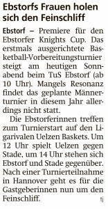 Vorbericht Knights Cup Ebstorf 2019 vom 07.09.2019