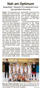 Bericht Zwischenbilanz mU12 vom 03.01.2020