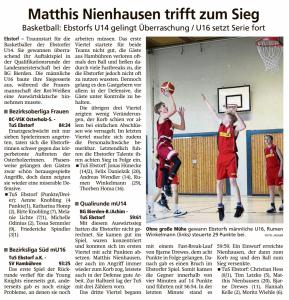 Spielberichte Ebstorf Knights vom 14.01.2020