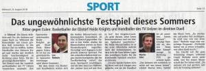 Vorbericht Heide Knights Basketball vs. Handball vom 08.08.2018