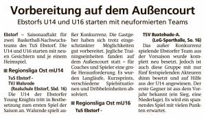 Vorberichte Team Ebstorf Knights vom 26.09.2020