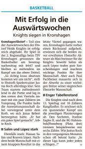 Spielbericht Heide Knights vom 20.01.2020