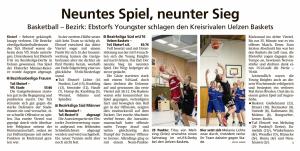 Spielberichte Ebstorf Knights vom 21.01.2020