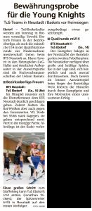 Vorberichte Ebstorf Knights vom 25.01.2020