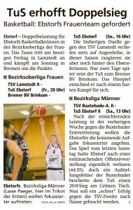 Vorberichte Ebstorf Knights vom 14.02.2020