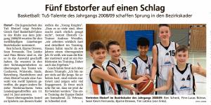 Bericht Ebstorf Knights im Bezirkskader vom 19.02.2020
