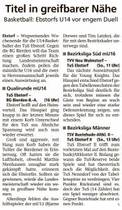 Vorberichte Ebstorf Knights vom 22.02.2020