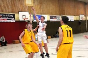 WE 11.02.2017 / Vorbericht U18+Herren II / Jan Alms beim Sprungwurf im Doppeleinsatz für die 2. Herren und U18