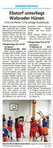 Spielberichte Team Ebstorf Knights vom 29.09.2020