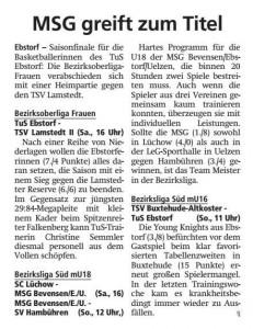 Vorberichte Team Ebstorf Knights vom 09.03.2019