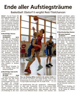 Spielberichte Ebstorf Knights vom 04.03.2020
