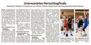 Spielberichte Ebstorf Knights vom 10.03.2020