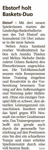 Vorbericht Team Ebstorf Knights vom 02.10.2020