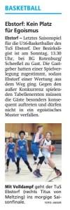 Vorbericht Team Ebstorf Knights vom 30.03.2019