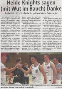 Vorbericht Heimspiel Heide Knights vom 08.04.2017