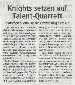 Vorbericht Heide Knights vom 17.03.2018