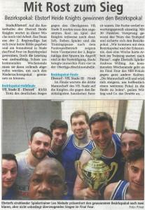 Spielbericht BBL-Pokal 2017 Heide Knights vom 02.05.2017