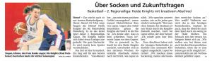 Vorbericht  Ebstorf Heide Knights vom 13.04.2019