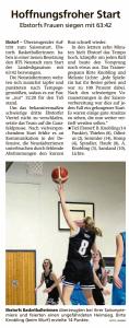 Spielbericht Team Ebstorf Knights vom 06.10.2020